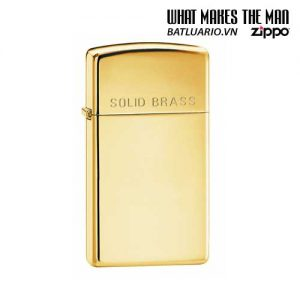 Zippo 1654 - Zippo Slim High Polish Brass Engraved