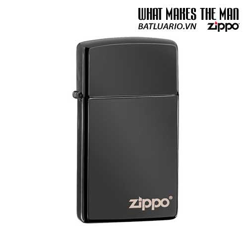 Zippo 28123ZL - Zippo Slim Ebony with Zippo Logo
