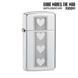Zippo 28476 - Zippo Slim Heart Polished Chrome
