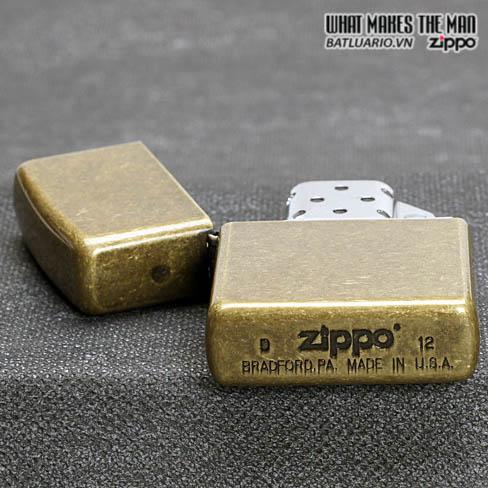 ZIPPO 201FB - ZIPPO ANTIQUE BRASS