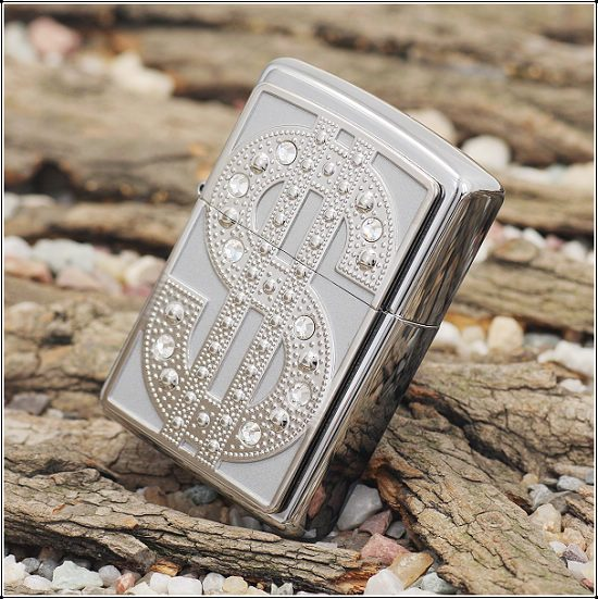 Zippo 20904 - Zippo Bling Emblem Polished Chrome 3