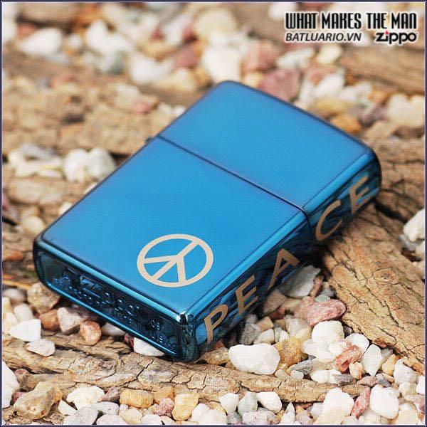 Zippo 21055 - Zippo Peace On The Side Sapphire