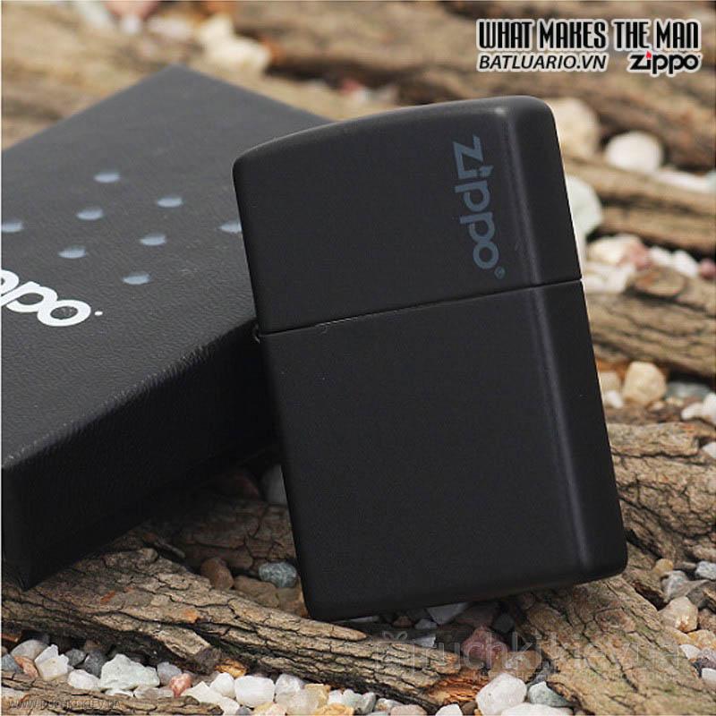 Zippo 218ZL - Zippo Black Matte with Zippo Logo