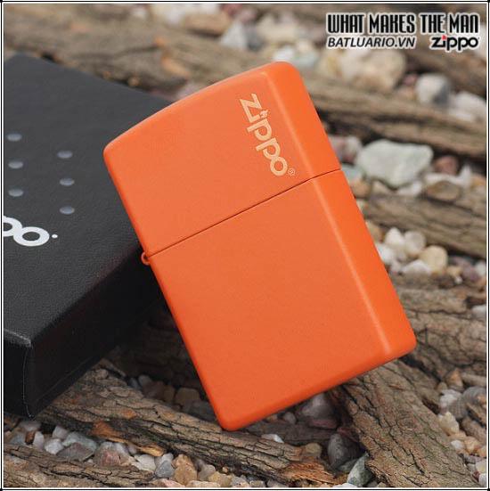Zippo 231ZL - Zippo Orange Matte with Zippo Logo