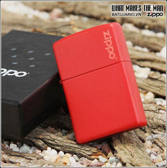 Zippo 233ZL - Zippo Red Matte with Logo