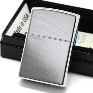 ZIPPO 24647 – ZIPPO CHROME ARCH BRUSHED CHROME 1