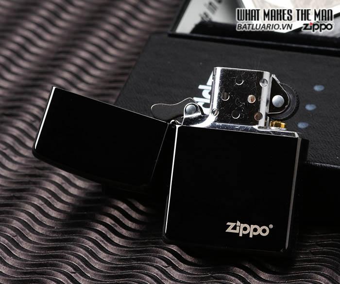 Zippo 24756ZL - Zippo Ebony with Zippo Logo