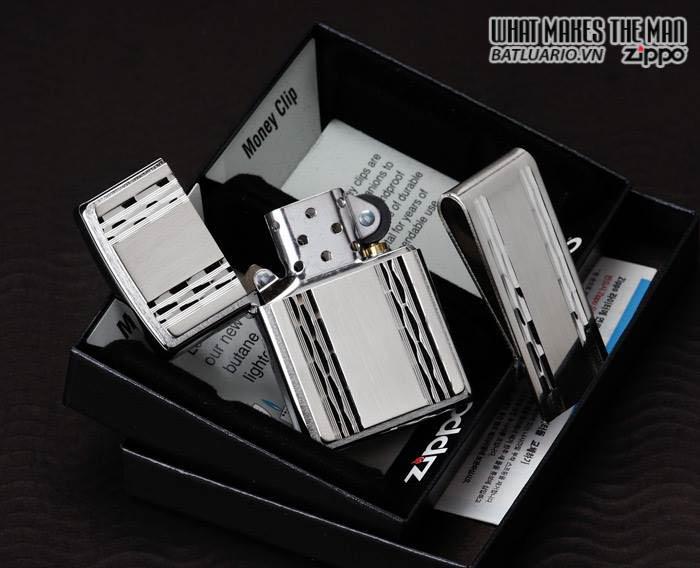 Zippo 24874 - Zippo Emblem Lighter and Money Clip Gift Set