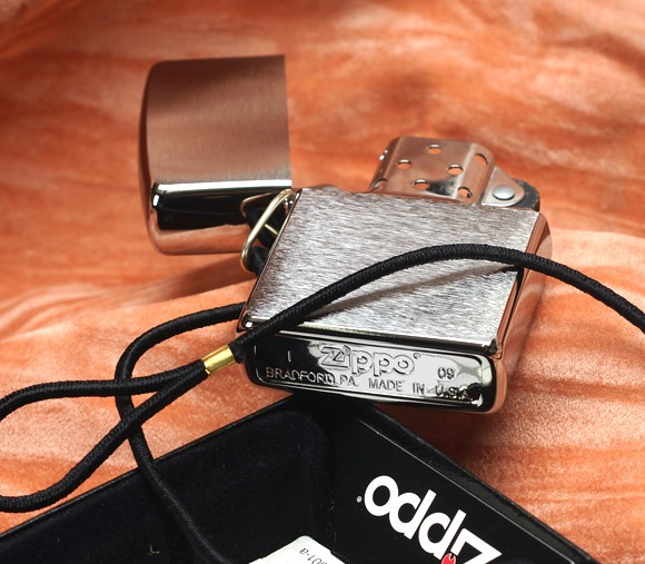 ZIPPO 275 – ZIPPO LOSSPROOF WITH LOOP & LANYARD BRUSHED CHROME