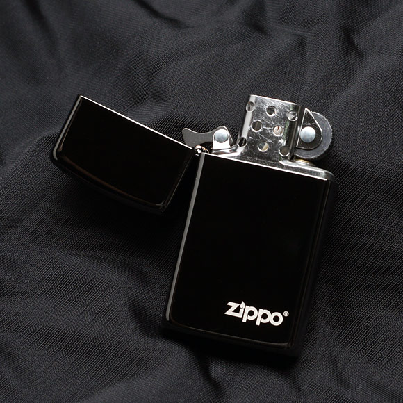 Zippo 28123ZL - Zippo Slim Ebony with Zippo Logo 2