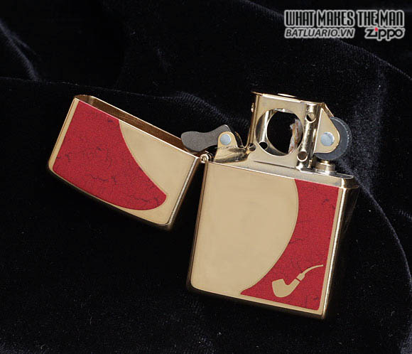 Zippo 28322 - Zippo Pipe Lighter Red High Polish Brass