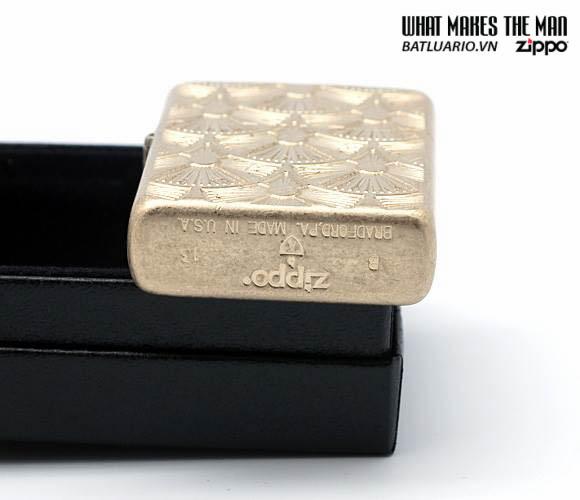Zippo 28541 - Zippo Fanned Discs Tumbled Brass