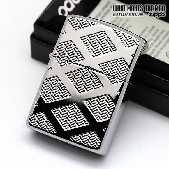 Zippo 28637 - Zippo Armor Carved Chrome Diamond