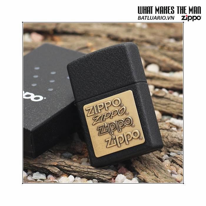 Zippo 362 - Zippo Brass Emblem Black Crackle