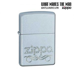 Zippo 24335 - Zippo Scroll Satin Chrome