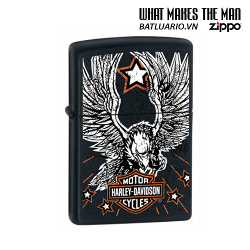 Zippo 24772 - Zippo Harley Davidson Eagle Star Original USA