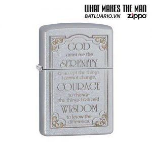 Zippo 28458 - Zippo Serenity Prayer Satin Chrome