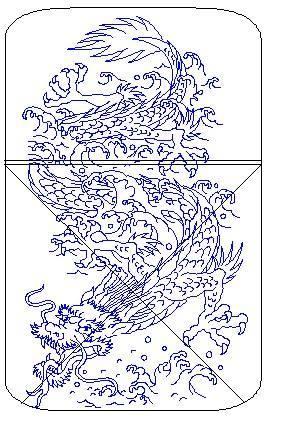 Mẫu Khắc Zippo Rồng - R19