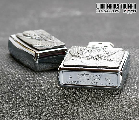 Zippo 200HD.H231 – Zippo Made in the USA Eagle and Globe Emblem Brushed Chrome