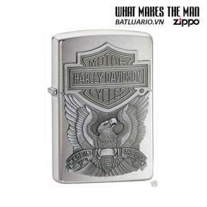 Zippo 200HD.H284 - Zippo Made in the USA Emblem Brushed Chrome