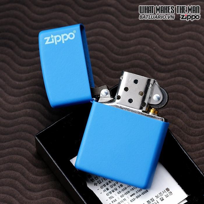 Zippo 21124ZL – Zippo Blueberry Matte with Logo