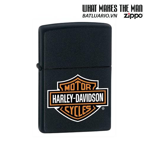 Zippo 218HD.H252 - Zippo Harley Davidson Logo Black Matte