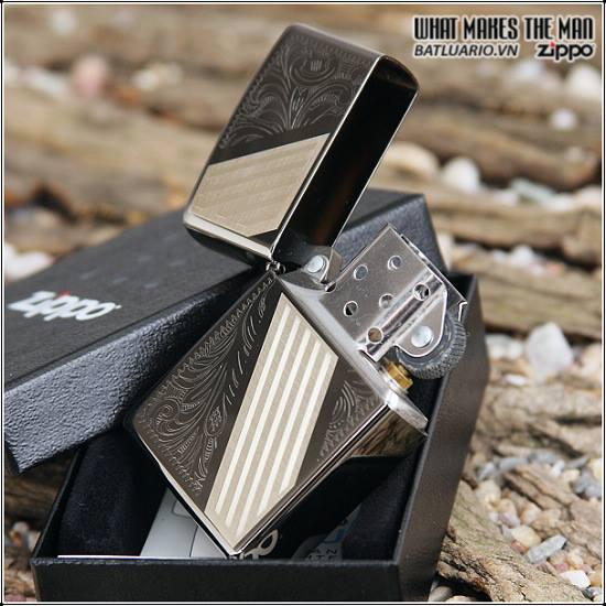 Zippo 24038 – Zippo Venetian Stripe Black Ice