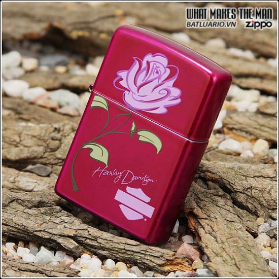 Zippo 24166 – Zippo Harley Davidson Rose Candy Raspberry