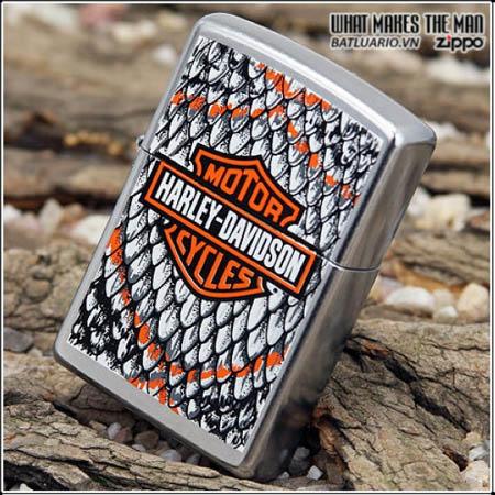 Zippo 24167 - Zippo Harley Davidson Snake Skin Street Chrome
