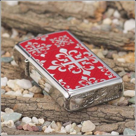 Zippo 24195 - Zippo Slim High Polish Chrome Floral 3
