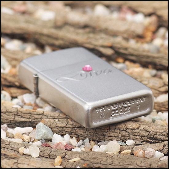 Zippo 24573 - Zippo Slim Diva Silver Style 1