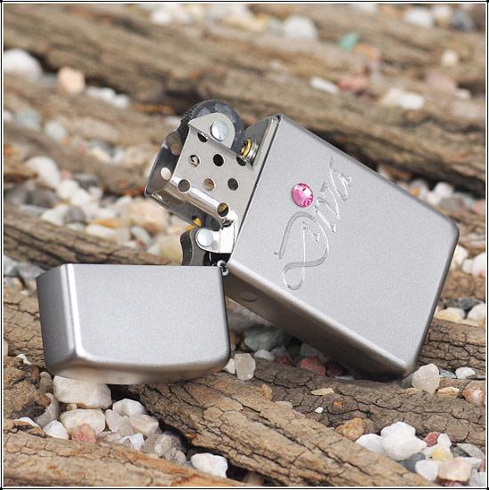 Zippo 24573 - Zippo Slim Diva Silver Style 2