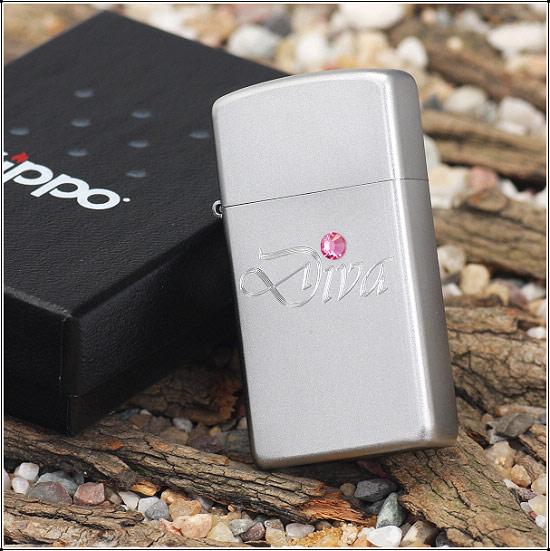 Zippo 24573 - Zippo Slim Diva Silver Style 3