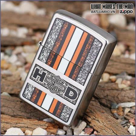 Zippo 24767 – Zippo Harley Davidson Orange Street Chrome