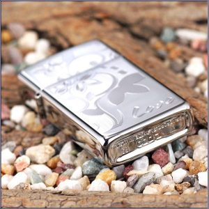 Zippo 24816 - Zippo Slim Love Flower High Polish Chrome 3