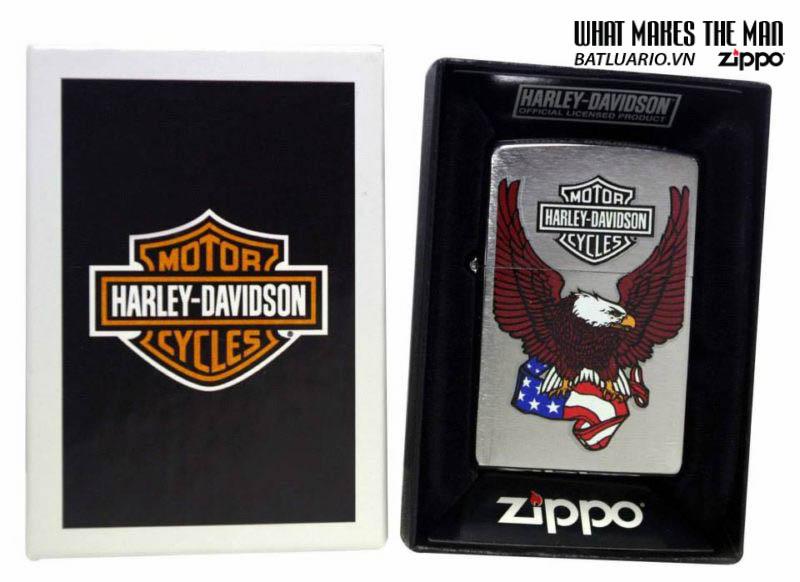 Zippo 24955 - Zippo Harley Davidson Eagle and Flag
