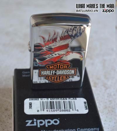 Zippo 28082 - Zippo Harley Davidson Eagle Wings Polish Chrome