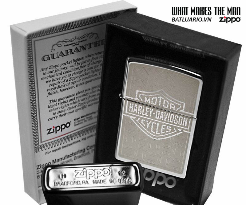 Zippo 28083 – Zippo Harley Davidson Machine Etch Polished Chrome