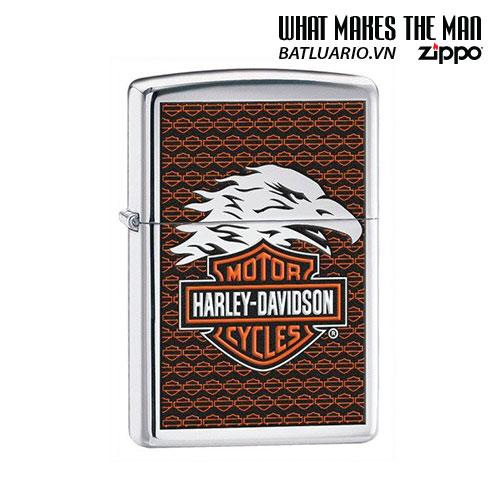 Zippo 28265 - Zippo Harley Davidson Eagle Polished Chrome