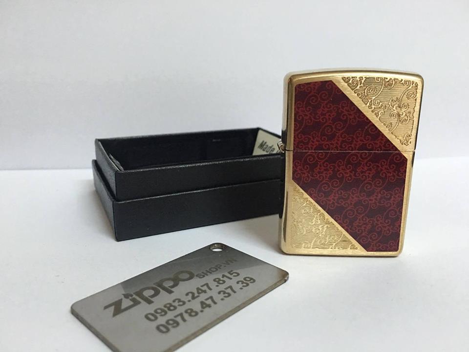 Zippo 28377 - Zippo Damask Brushed Brass 3