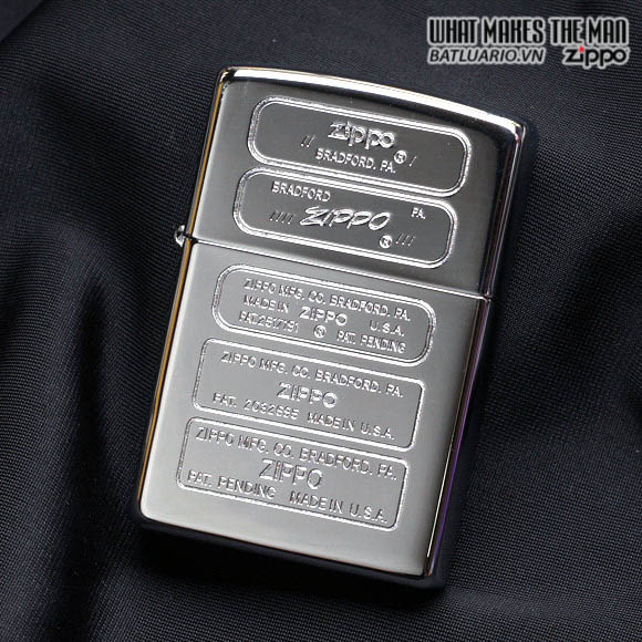 Zippo 28381 - Zippo Bottom Stamps Polished Chrome