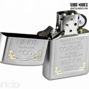 Zippo 28458 – Zippo Serenity Prayer Satin Chrome