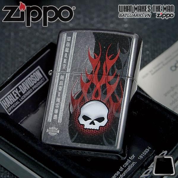 Zippo 28618 – Zippo Harley Davidson Skull Fire