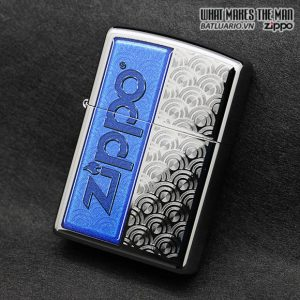Zippo 28658 - Zippo Classic High Polish Chrome Special Design Windproof Pocket Lighter