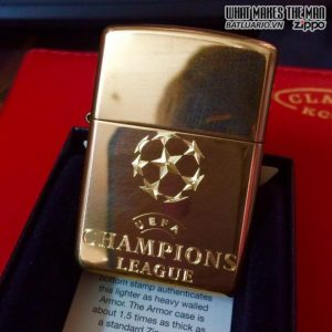 Zippo Khắc Logo UEFA Champions League – Zippo 254B.UEFA