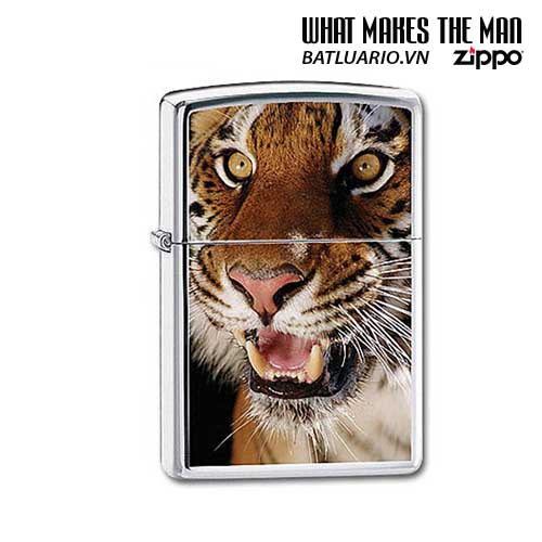 Zippo 20403 - Zippo Tiger High Polish Chrome