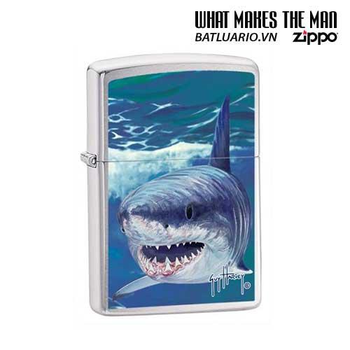 Zippo 21052 - Zippo Guy Harvey Shark Brushed Chrome