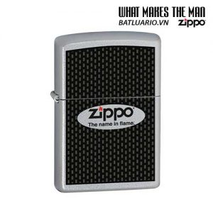 Zippo 24035 - Zippo Name in Flame Satin Chrome