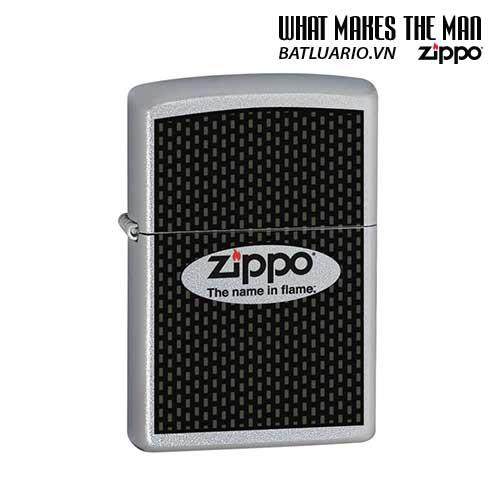 Zippo 24035 - Zippo Name in Flame Satin Chrome
