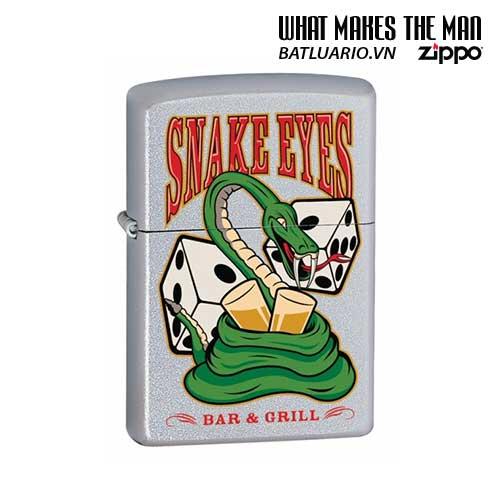 Zippo 24262 - Zippo Snake Eyes American Hardcore Satin Chrome